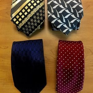Other - Four Ties - Three 100% Silk